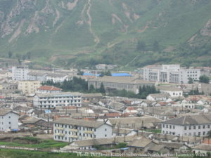 Namyang, Onsong county. You can see the train station to the right in the picture. Photo: Benjamin Katzeff Silberstein.