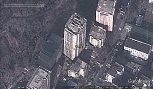 Collapsed building-Google-earth